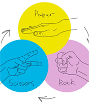 When Strains of E.coli Play Rock-Paper-Scissors, It's Not the Strongest That Survives