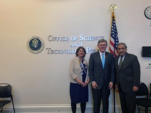 Diaz with OSTP director and chancellor